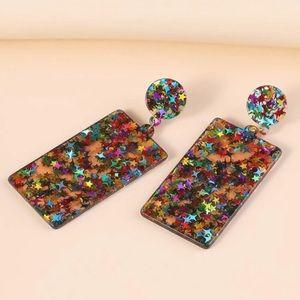 ⭐️ Star Acrylic Rectangular Drop Earrings ⭐️